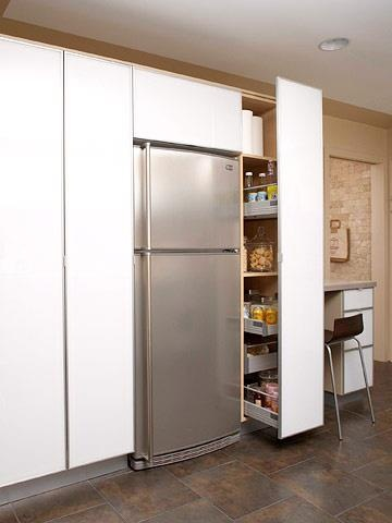 Clever use of space next to the fridge