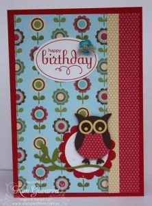 Kim Gavarra card using Stampin Up's Owl Punch