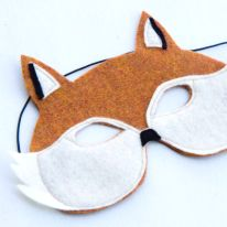 masque renard DIY                                                                                                                                                                                 Plus