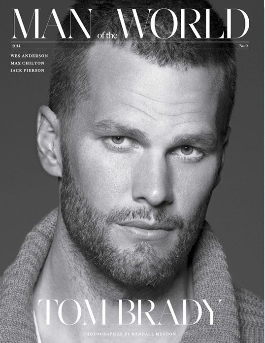 Tom Brady on the cover of Man of the World magazine