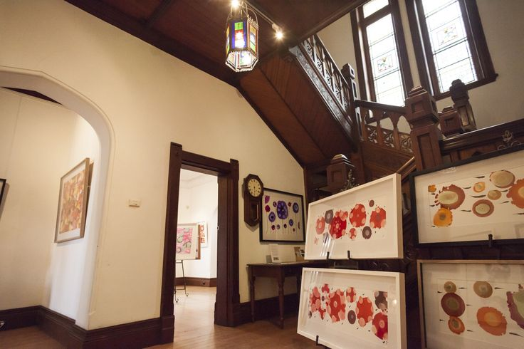 Exhibition space in Kinross House, Arts and Crafts era former manse#Kinross Arts#art gallery#arts#spiritual#Toorak