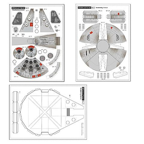 star wars millenium falcon papercraft diy jorymon techblog star wars party pinterest. Black Bedroom Furniture Sets. Home Design Ideas
