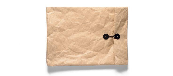weathered look-alike leather envelope - Kaufmann Mercantile