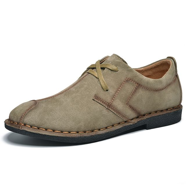 Urban Style Men Casual Shoes Italian Shoes Man Flats Shoes Fashion Suede Anti Slip Lace-Up Oxford Moccasins Plus Size Shoes