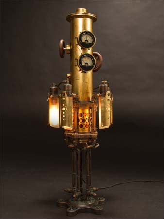 The Mystarium Table Lamp by JW Kinsey Steampunk Steam Punk