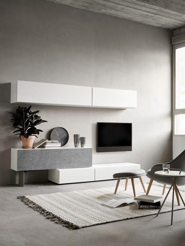Lugano designer floating TV unit - white