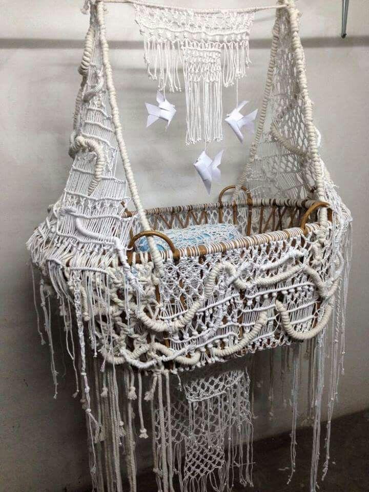 ☮ American Hippie Bohéme Boho Lifestyle ☮ Crochet Baby Hammock Cradle ❤