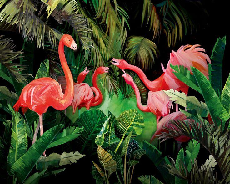 Flamingi - KASIA ŁUBIŃSKA - Lumarte - sztuka online
