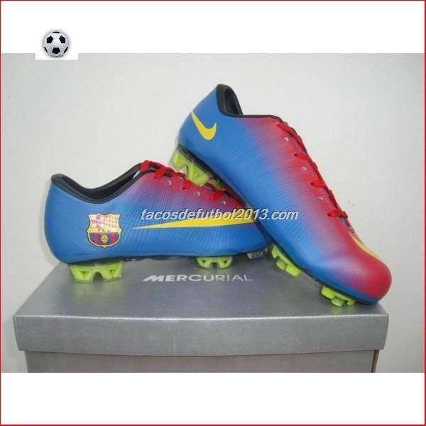 Zapatos De Futbol Tienda Nike Barcelona Home Team Mercurial Vapor VIII...
