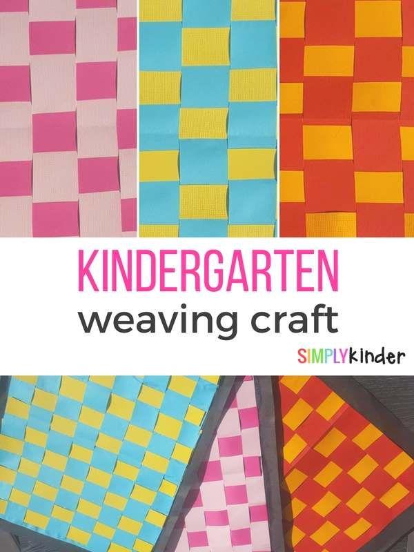 kindergarten weaving craft