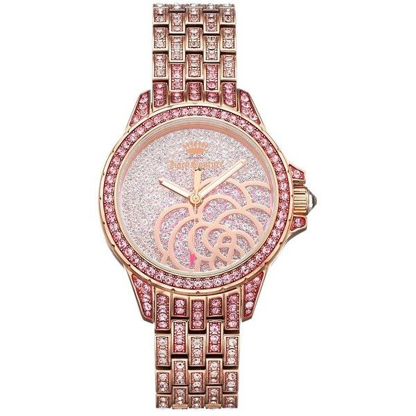 Juicy Couture Women's Charlotte Crystal Stainless Steel Watch ($347) ❤ liked on…