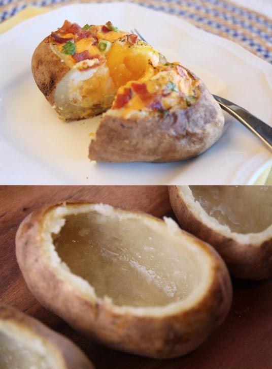 Sencilla forma de hacer patatas rellenas potatoes diy for Cocinar patatas rellenas