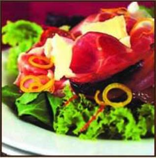 Parma Ham, Caramelized Pink Lady® Apple and Parmesan Cheese Salad