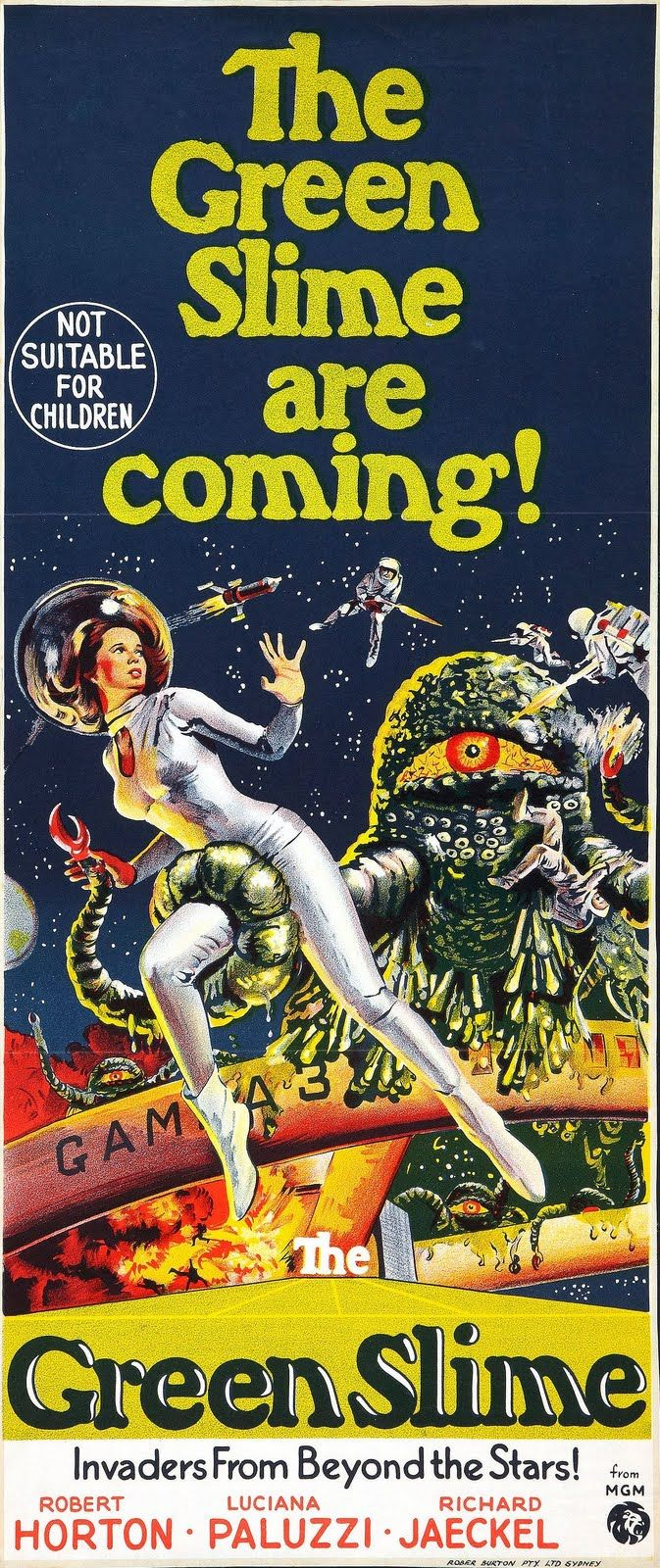 The Green Slime (1968) Stars: Robert Horton, Luciana Paluzzi, Richard Jaeckel, Bud Widom, Ted Gunther ~ Director: Kinji Fukasaku