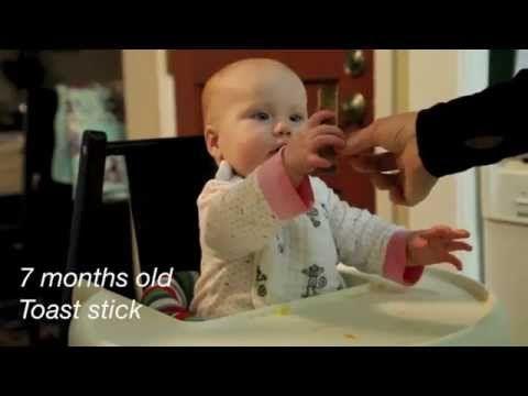 Un vídeo que enseña cómo acostumbrar al bebé a comer de todo