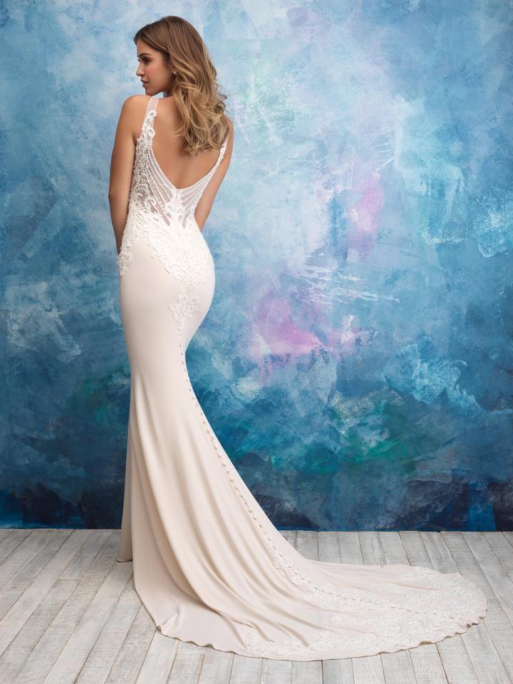 Allure 9554 Allure Bridal Crepe Wedding Dress Wedding Dresses