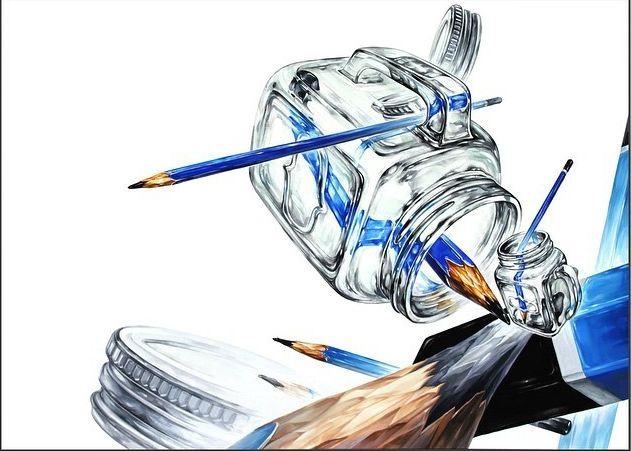 연필 유리