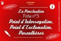 057 Ponctuation Point dInterrogation Exclamation Parentheses