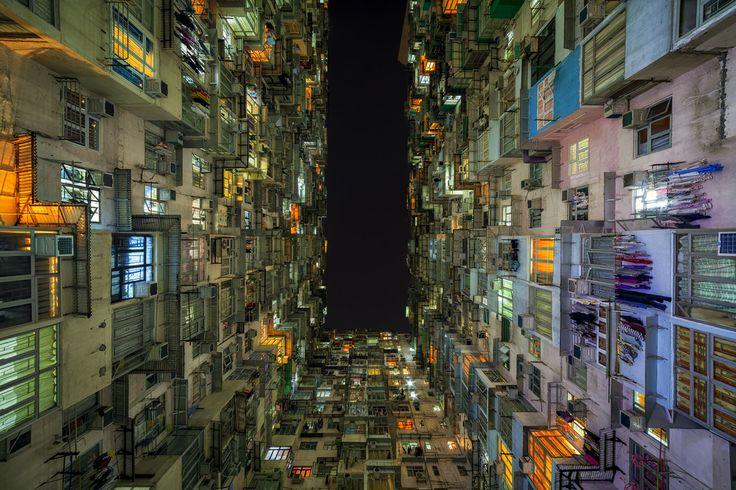 La colmena humana... en Quarry Bay, Hong Kong. Fotografía de Peter Stewart