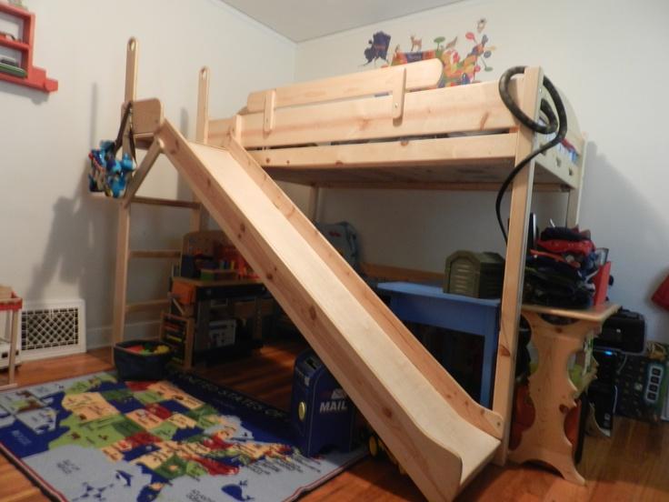 1000 images about diy kids bed ideas on pinterest toddler bed trundle beds and loft beds. Black Bedroom Furniture Sets. Home Design Ideas