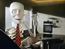 scotch videotape skeleton - re-record not fade away!