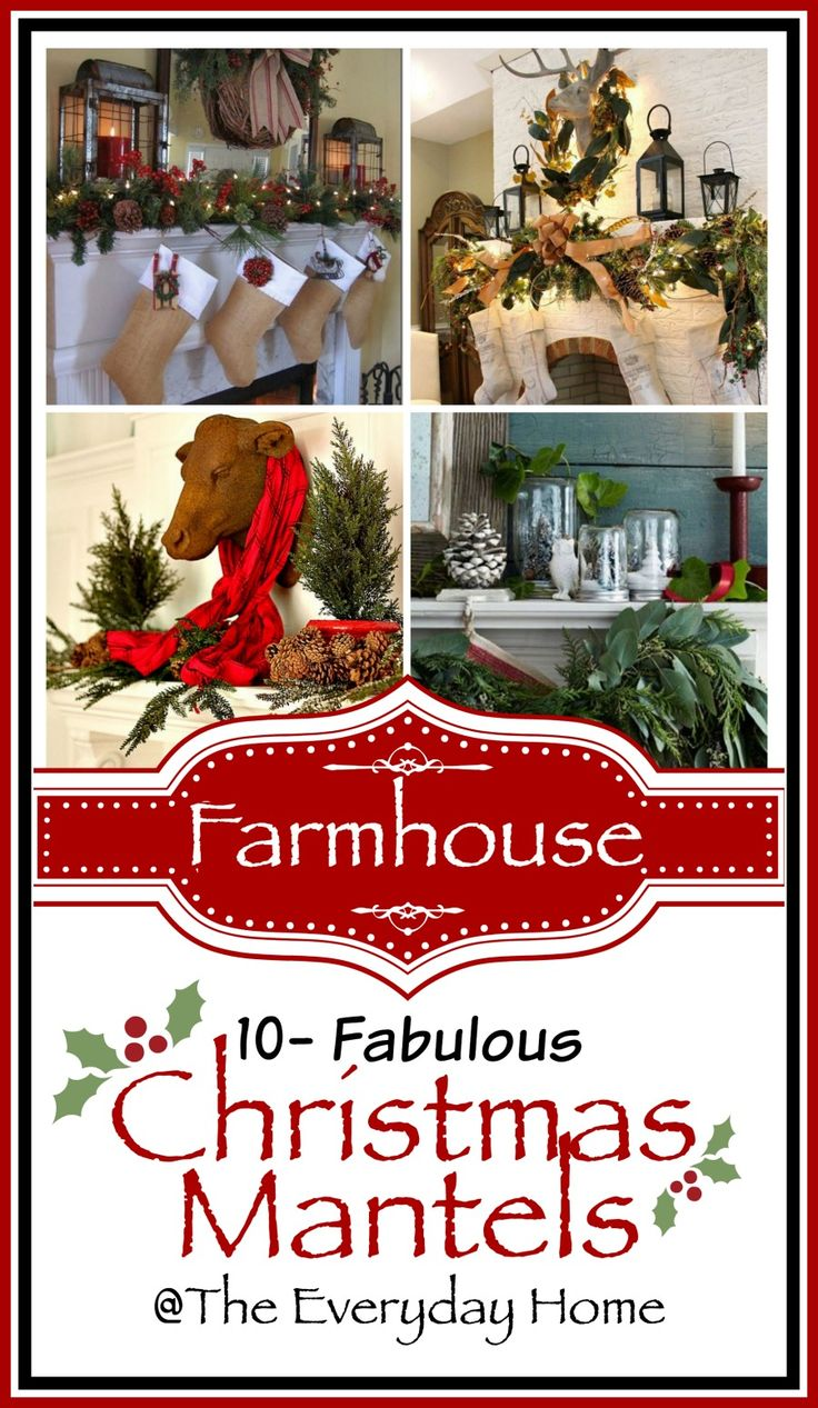 Join me as I share 10 of the most amazing Farmhouse-style Christmas Mantels on the internet. Simple, classic and oh-so-Farmhouse-y.