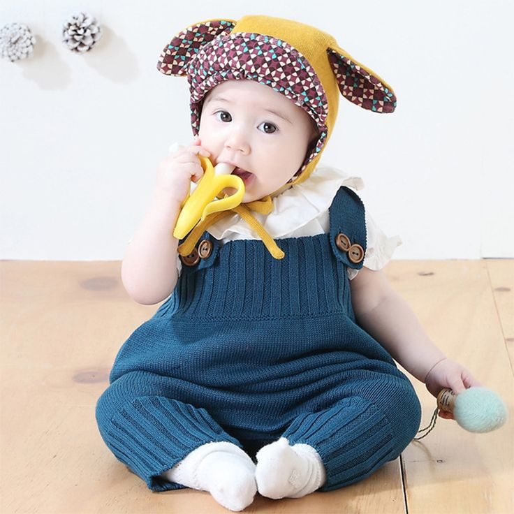 CN-RUBR High Quality Baby Clothes Spring Autumn Newborn Jumpsuit For Girl Boy Sleeveless Knitted Baby Rompers 3 Color Costume #Affiliate