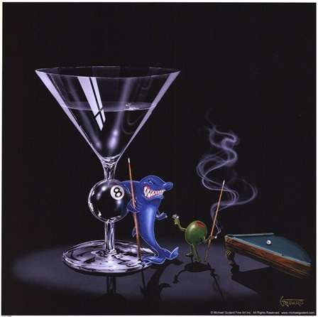Pool Shark by Michael Godard art print
