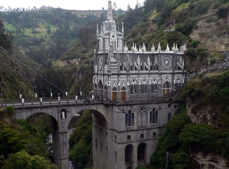 Las Lajas Sanctuary basilica church located in the southern Colombian Department of Nariño,