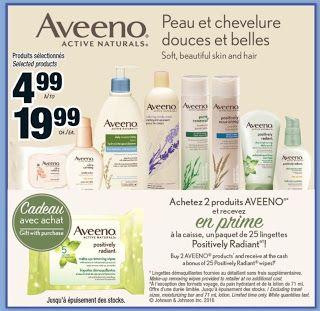 Coupons et Circulaires: GRATUIT : 2 AVEENO + 25 Lingettes Aveeno GRATUITE