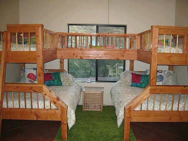 4 5 Person Bunk Beds Would Be So Fun For Sleepovers Ideas The Kids Pinterest Bed And Bedroom