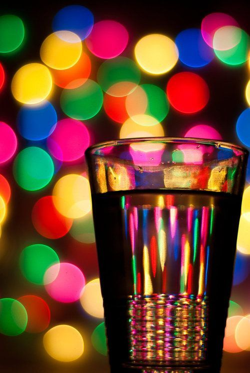 color glass and lights