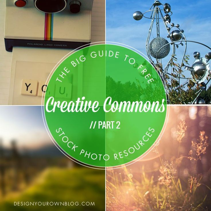 The BIG Guide to Free Stock Photo Resources: Part 2 Creative Commons. || DesignYourOwnBlog.com