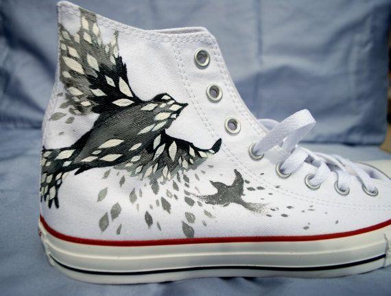 Zapatos pintados a mano Converse - Bird - Hola Tops