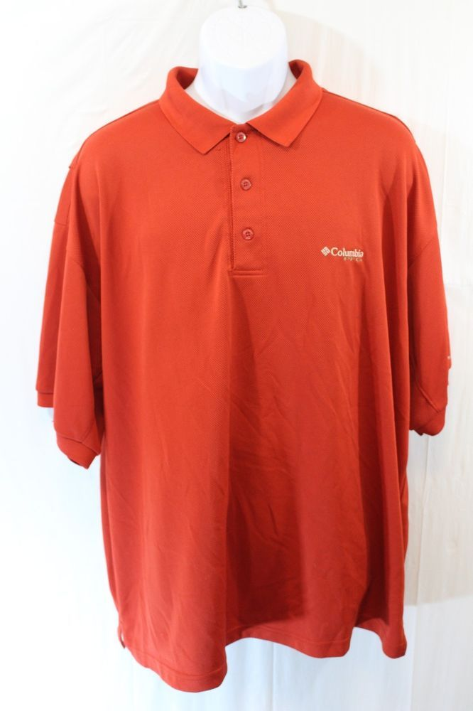 Columbia PFG Shirt Mens 2XL Red Sportwear Button Front Long Sleeve 8173 #Columbia #ButtonFront
