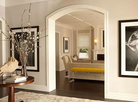 Open Arched Double Doors