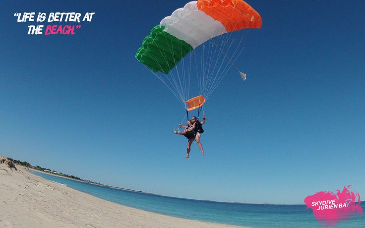 Inspirational desktop wallpaper. Skydive Jurien Bay. Perth, Western Australia. Life is better at the beach.