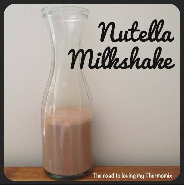 I've run out of chocolate and cocoa but had some Nutella in the pantry and whipped up a quick milkshake for the kiddies. The 5 yr old hates banana with a passio