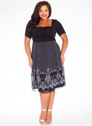 Hayleigh Plus Size Dress in Black by IGIGI