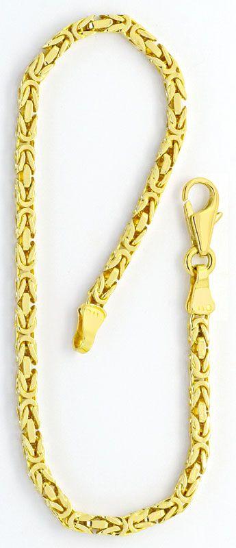 Foto 3, Königskette und Armband Königskette Gelbgold 14K massiv, K2219