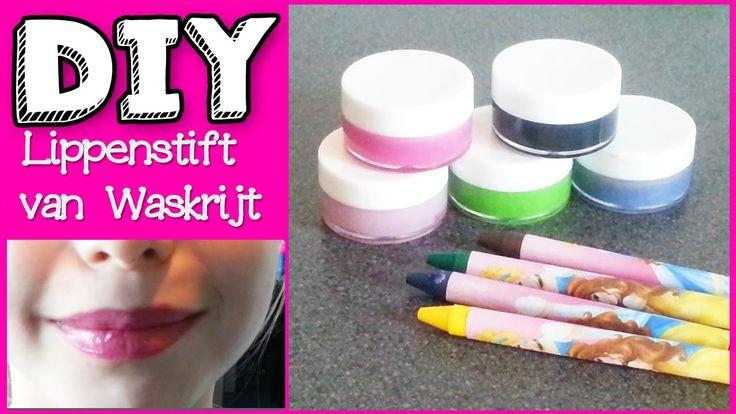 DIY Neon Lippenstift Van Waskrijt Vetkrijt Maken