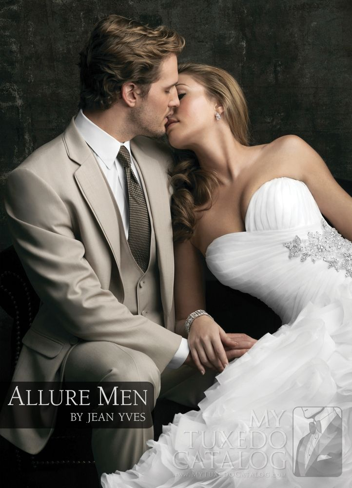 Tan 'Allure' Tuxedo from http://www.mytuxedocatalog.com/catalog/rental-tuxedos-and-suits/C994-Tan-Allure-Tuxedo/