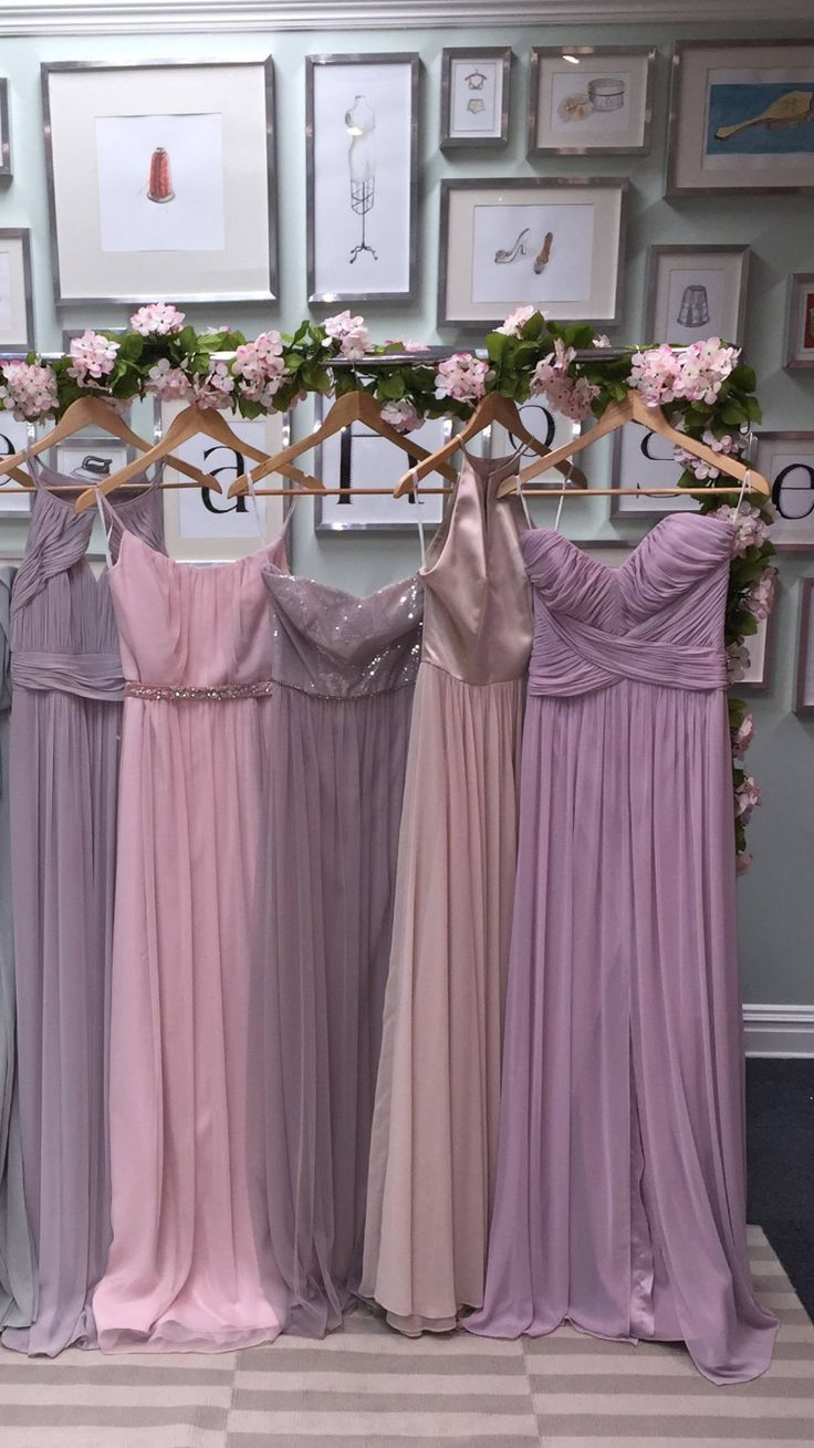 Love These Different Shades Of Dusty Pink And Purple