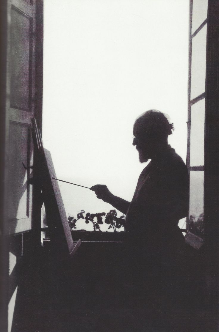 Henri Matisse in his apartment in Nice,  1910