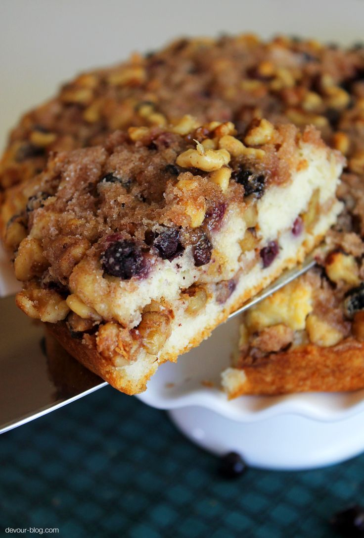 Saskatoon Berry Coffee Cake by Sarah @ Devour