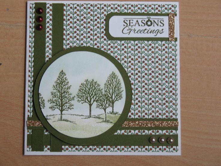 Op de parels en tekst na alles van SU, oud papiertje van vorig jaar, Lovely As a Tree en Sheltering Tree stempelset gebruikt.