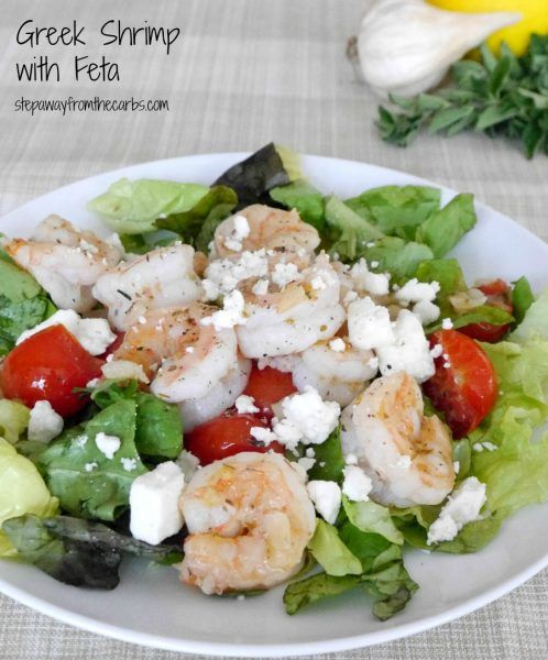 Greek Shrimp with Feta - a low carb recipe