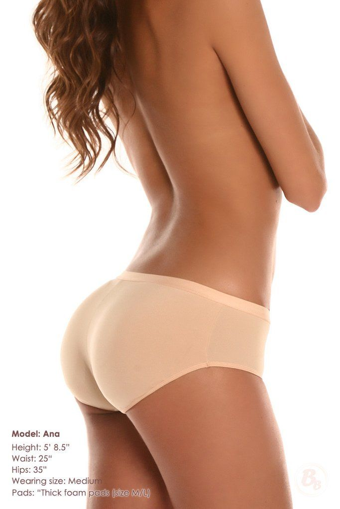 You have the option of using thin foam, thick foam, or lightweight silicone in this padded panty style.
