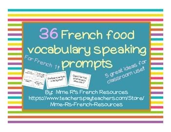 FREE French food speaking activity for beginners - FREE ACTIVITY…