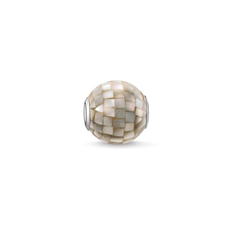 bead Grey mother-of-pearl – Beads – Sterling Silver – THOMAS SABO
